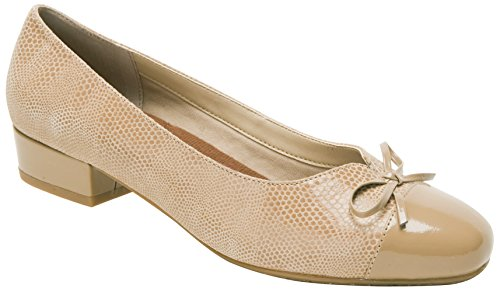 (Ros Hommerson Tawnie Women's Casual Shoe: Nude/Lizard Patent/Leather 9 Narrow (2A) Slip-On)
