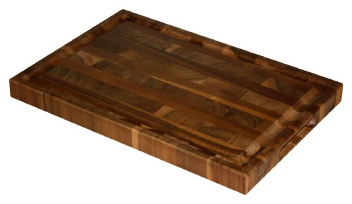 Professional End Grain Cutting Board (Mountain Woods 16 X 11 Professional Acacia End Grain Cutting Board w/ Juice)