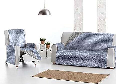 Cubre-Sofá EYSA Acolchada Mist Azul 2 Plazas: Amazon.es: Bebé