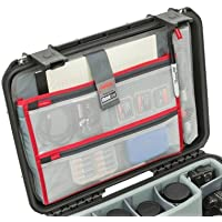 New Lid organizer for Pelican 1600, 1610, 1620 case. 4 Front pouches & 1 pouch for tablets or small laptops.