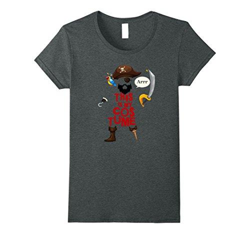 Womens This Is My Pirate Costume Shirt Funny Halloween Tee XL Dark (Bearded Baby Costume)