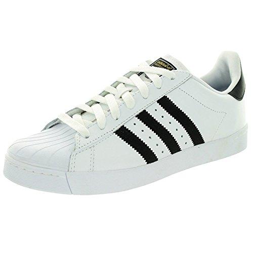 Adidas Superstar Vulc Adv Ftwhite / negro / ftwht del patín zapatos 8,5 con nosotros White/Black/White