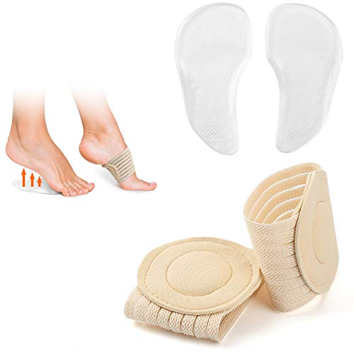 Arch Support Shoe Insoles for Sandals Women, Gel Arch Inserts for Plantar Fasciitis, [2019 Upgraded ] Healbody Compression Fasciitis Cushioned Support Sleeves, Relieve Flat Feet, High Arch, Foot Pain