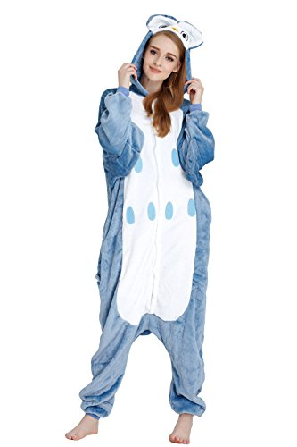 Women's Animal Flannel Cosplay Pajamas Onesie, Owl,