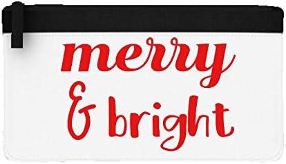 Estuche plano de Navidad con diseño de canción de Navidad, color negro talla única: Amazon.es: Oficina y papelería