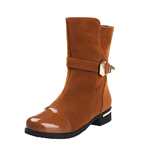 Women's Blend Materials Low-top Solid Pull-on Low-Heels Boots