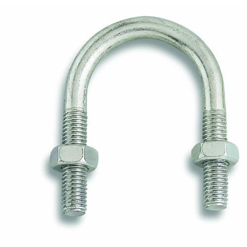 Chapuis VFT6 Lot de 2 Brides fixation tube acier zingue M 8 mm Largeur intérieur 42 mm