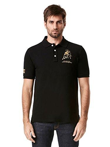 Automobili Lamborghini Official Mens Lamborghini Bull LXIII Spec. Ed Polo Shirt L Black (Lamborghini Shirt)