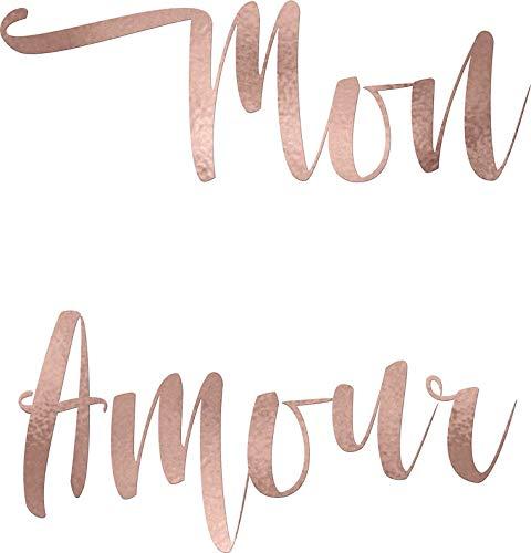 - HZ Graphics Mon Amour - Rose Gold Vinyl Decal Wall Laptop Bumper Sticker 5