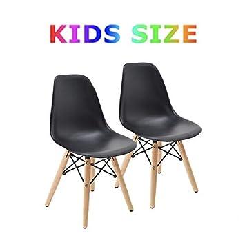 29c6bfe93e5 Amazon.com - Buschman Set of 2 Black Kids Eames Chairs
