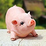 XIFIRY Animal Garden Gnomes Statue Cute Pig Funny Outdoor Sculpture Resin Lawn Ornaments Décor Indoor Outdoor Figurines for Garden and House (Cut Pig)