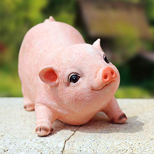 (XIFIRY Animal Garden Gnomes Statue Cute Pig Funny Outdoor Sculpture Resin Lawn Ornaments Décor Indoor Outdoor Figurines for Garden and House (Cut Pig))