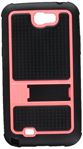 060NP Soft Gummy Armor Stand Protective Case for Samsung Galaxy Note 2 - 1 Pack - Retail Packaging - Hot Pink ()