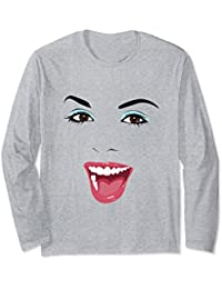 Pretty Lady Laughing Sweatshirt, Happy, Face Shirt, Lady