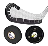 Hockey Wrap Around Stick Blade Protector with Green Biscuit Puck and Hockey Tape for Off Ice Training and Practice Aid - Accessories, Equipment, Gear