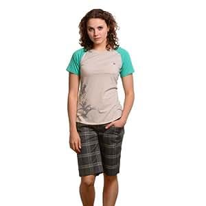 Blurr Women's Lesley Shorts, Charcoal Check, 12