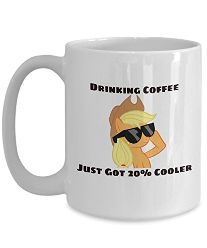 Drinking Coffee Just Got 20% Cooler My Little Pony Coffee or Tea Mug Great Gift for Brony or Pegasister, Lover of MLP or Equestria Girls, MLP Cup Gift for Adults, Twilight Sparkle, Rainbow Dash -