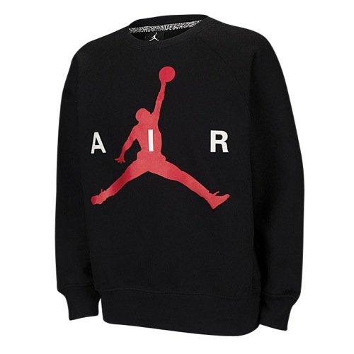 Jordan Big Boys' (8-20) Nike Jumpman Crew Sweatshirt-Black-Medium
