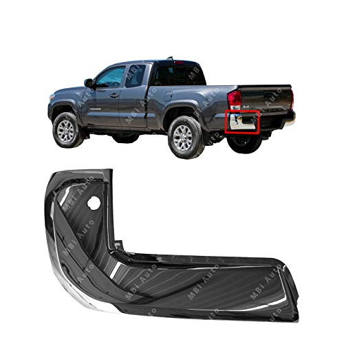 (MBI AUTO - Chrome, Driver Side Left LH Bumper End Cover for 2016 2017 2018 Toyota Tacoma w/Park Assist 16 17 18, TO1104132)
