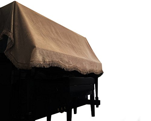 Clairevoire Upright Piano Dust Cover for standard vertical pianos [Venezia Brown] | Handcrafted with luxurious & durable fabric | Universal minimalist design fits most piano sizes (Venezia Cover)