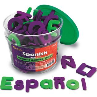 Spanish Magnetic Foam Learning Letters - Spanish Magnetic Foam Letters; 120 Piece Set; no. LER6305