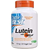 Doctor's Best Lutein with OptiLut, Non-GMO, Vegan, Gluten Free, Soy Free, Eye Health, 10 mg, 120 Veggie Caps