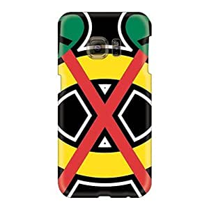 Casesbest88 Samsung Galaxy S6 Anti-Scratch Cell-phone Hard covers cases for Happy Christmas and New Year s cases for Happy Christmas and New Year Customized High Resolution Chicago Blackhawks Skin [nQQ4613vbQT]