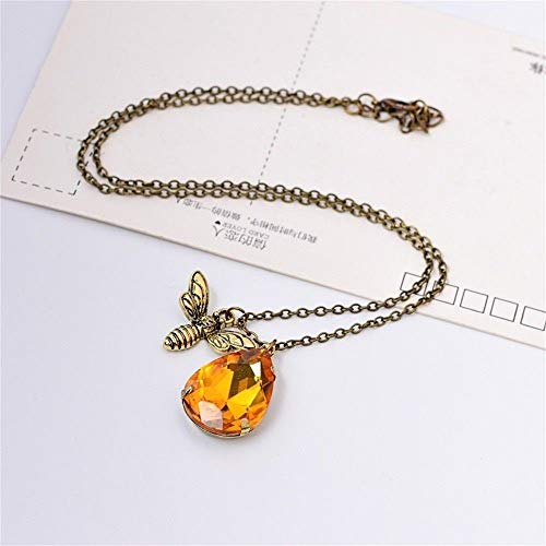 1pc Women Vintage Gift Crystal Beauty Bumble Bee Fashion Pendant Necklace ()