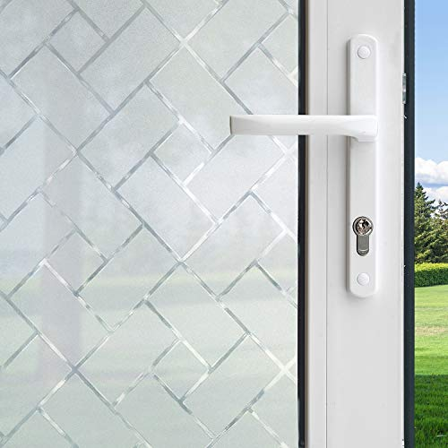 Gila 50188237 Film-36 x6.5 Frosted Tile Decorative Privacy Control Static Cling Window Film 36 x 78-INCH (3 6.5 ft.), 36in x 78in
