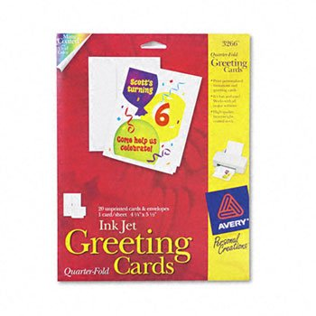 (AVE3266 - Avery 1/4-Fold Greeting Cards)