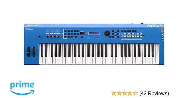 Amazon.com: Yamaha MX61 Music Production Synthesizer, Blue: Musical Instruments