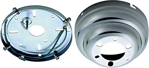 Monte Carlo Polished Ceiling Fan - 9