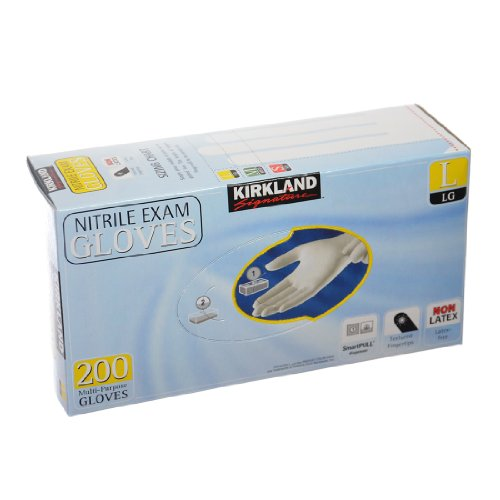 Kirkland Nitrile Exam Multi-Purpose Gloves, 200 pack (Large)