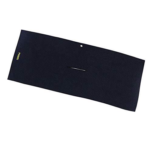 PINMEI Golf Towel, Center Cut Microfiber Golf Towel with Aluminium Alloy Carabiner Clip for Cleaning Golf Bag,Golf Clubs,16