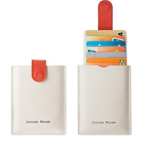 RFID Card Holder Wallet Unisex - Slim Minimalist Leather Wallets Front Pocket Wallet for Men Women