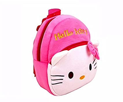 c676c94a33 Buy ToyJoy Hello Kitty school bag 2 compartment 35cm with keychain for kids  girls boys children plush soft bag backpack cartoon bag gift for kids  Online at ...