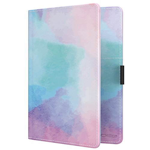 MoKo Passport Holder, PU leather Travel Case Cover for Passport, Water Color