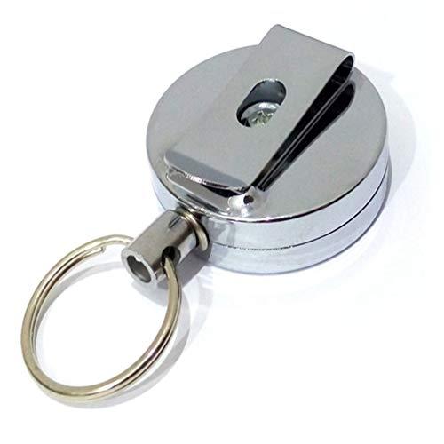 Hongma Securit Heavy Duty Retractable Key Holder with a Retractable Kevlar Cord Secures Keys Gear and Tools 36' Heavy Duty Kevlar Cord