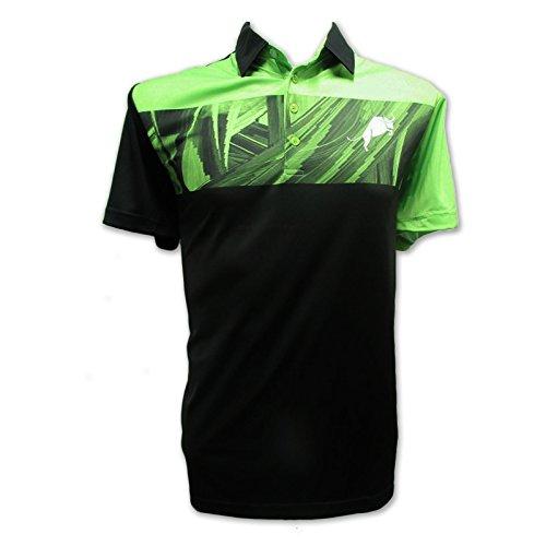 Edition Golf Shirt - Bullz Apparel The Tour Edition T2 White & Green-XXXL