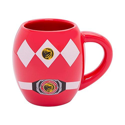 Mug Rangers Coffee (Power Rangers 18 Oz Ceramic Oval Mug)