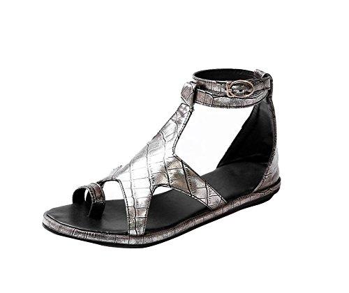 YUCH Playa Yin Señoras De De Zapatillas Zapatos Sandalias Plano Fondo Cvq6wCr8x