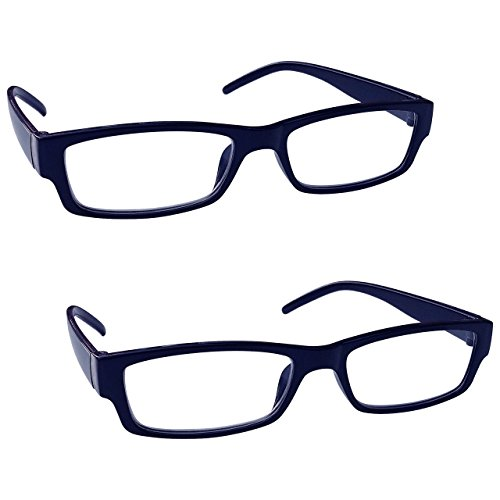 The Reading Glasses Company Blue Black Lightweight Comfortable Readers Value 2 Pack Mens Womens RR32-3 +1.00 ()