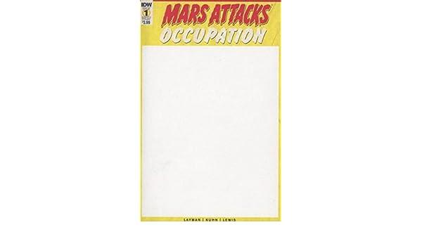 IDW COMICS OCCUPATION #1 MARS ATTACKS