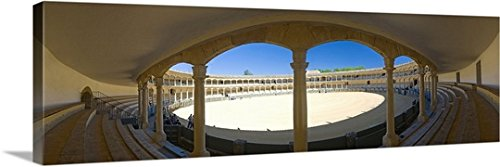 Pietro Canali Premium Thick-Wrap Canvas Wall Art Print entitled Spain, Andalusia, Ronda, Costa del Sol, White Towns, Plaza de Toros by Canvas on Demand