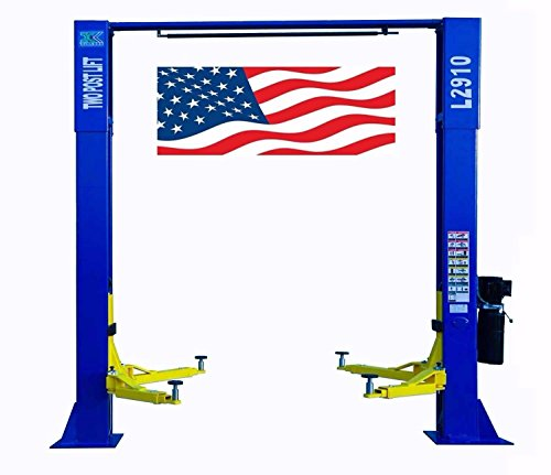 (CHIEN RONG CR L2910 220V Overhead Two Post Lift 9,000 lbs Capacity Car Auto Truck Hoist 12 Month Warranty)