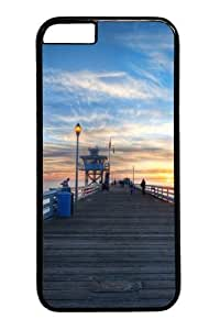 iphone 6 plus Case and Cover -Pier at sunset Custom PC Hard Case Cover for iphone 6 plus 5.5 inch Black