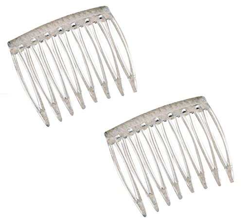 Good Hair Days Grip Tuth Hair Combs Set Of 2 Clear 1 12 Wide