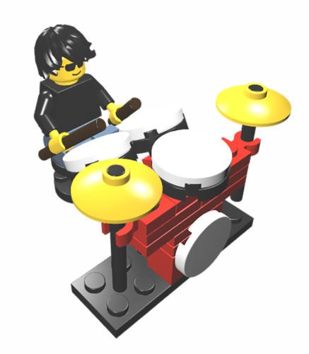 Constructibles Drummer And Drum Kit   Lego Parts   Instructions Kit