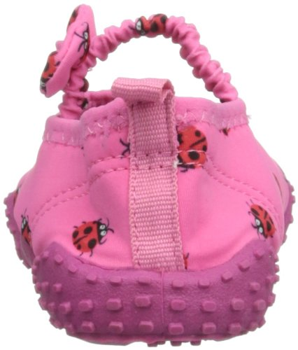 Playshoes Aquaschuhe, Badeschuhe Marienkäfer mit höchstem UV-Schutz nach Standard 801 - Zapatos de Aqua de material sintético infantil rosa - rosa