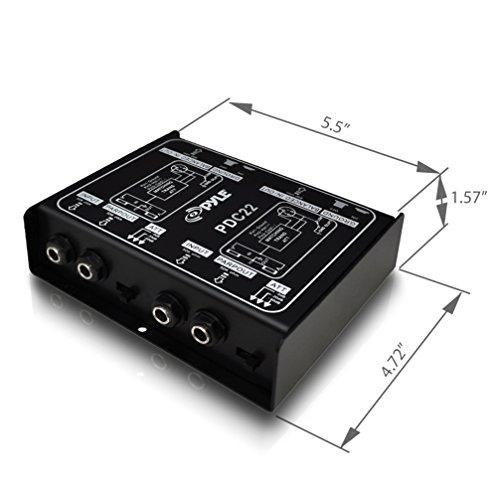 Pyle-Pro PDC22 Dual 1/4'' Instrument To Balanced & Unbalanced (1/4''/XLR) Direct Box